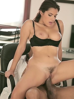 You'd think getting drenched by rain on the way into the office would have set Valentina Nappi too flustered to do her work. But instead walking