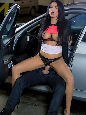 If you ever have to stay at work as late as Victor did this evening, better hope you have a coworker like Anissa Kate to spice up your night. Knowing